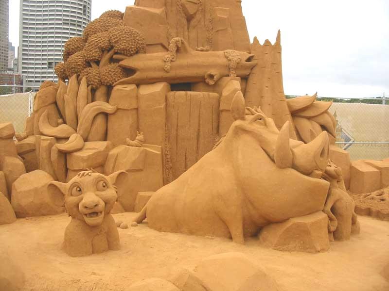 Megapost de Esculturas Con Arena Increibles