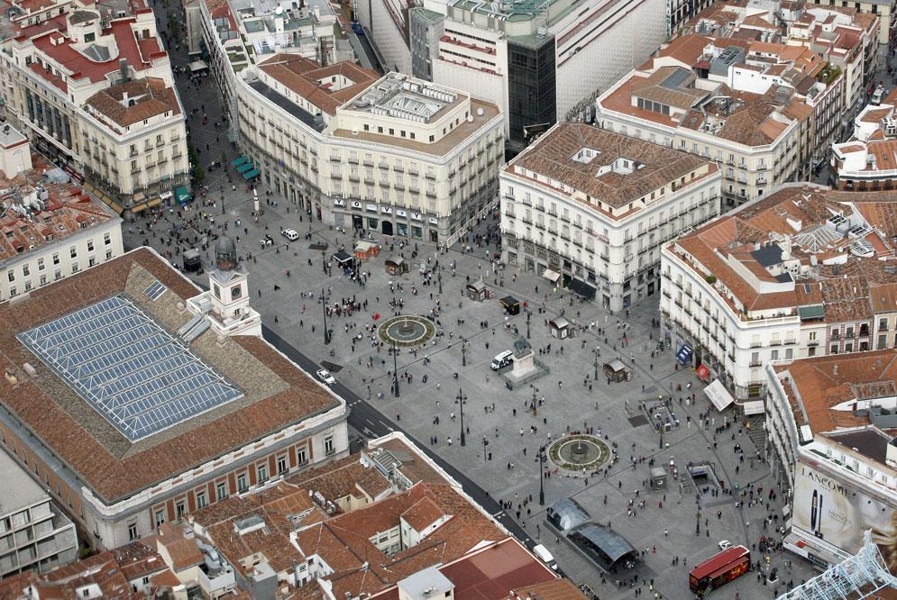 Madrid desde el cielo for Puerta del sol madrid mapa